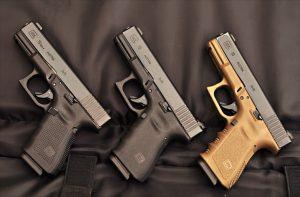 Pistolas Glock G19 Gen 4 e Gen2, Gen 3 e Gen 3.5