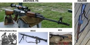 Alguns armamentos no calibre 7,92x57mm Mauser
