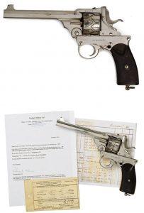 Webley-Fosbery Automatic Revolver modelo 1902 em .38ACP