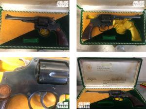 Primeira arma produzida em série com matéria prima totalmente nacional. Arma dada ao ex presidente Getúlio Vargas, e devolvida à Taurus, pelo Exército, anos depois sua morte. Importante lembrar que Getúlio Vargas cometeu suicídio com um revólver Colt Police Positive em calibre .32 S&WL
